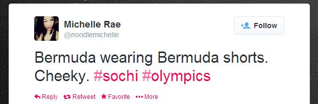Twitter   noodlemichelle  Bermuda wearing Bermuda shorts. ...