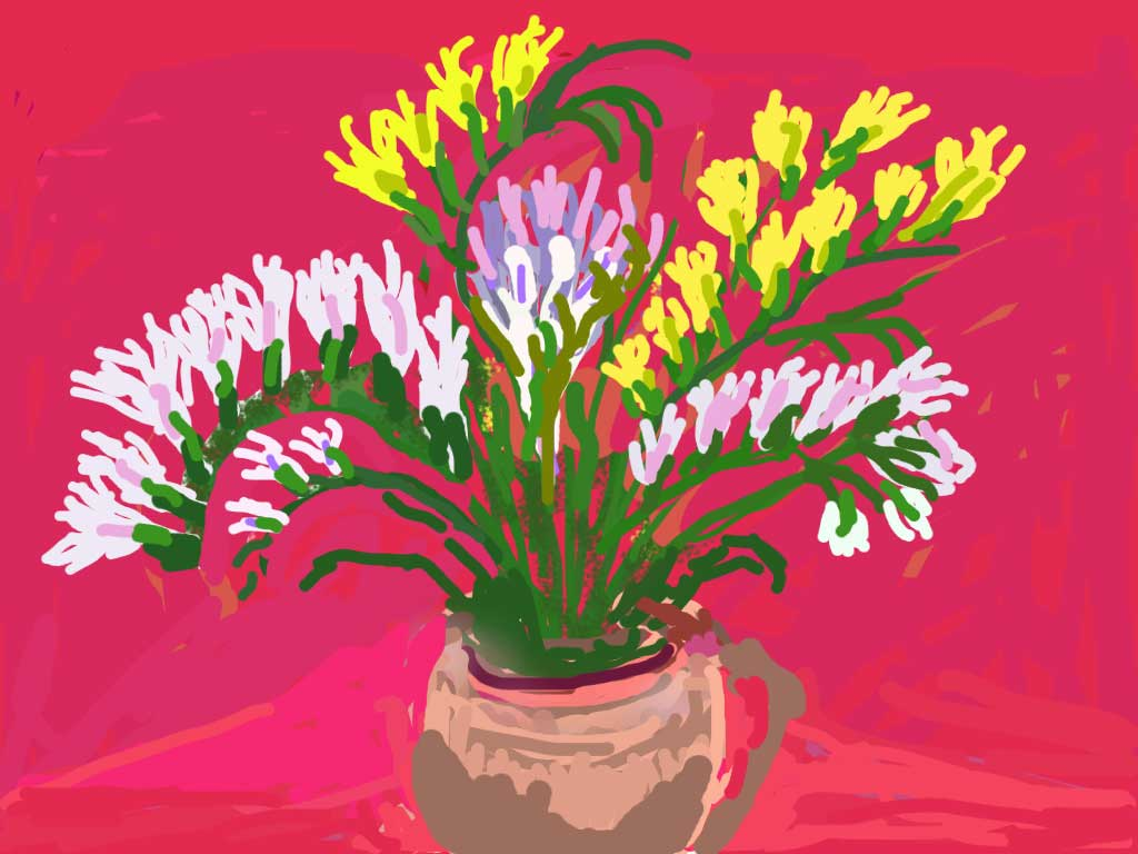 Bermuda Freesias-Rick Marson-iPad Art