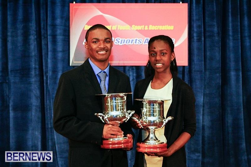 Justin Donawa Kyrah Scraders Sports Awards Teen Athletes Year Bermuda, March 22 2014