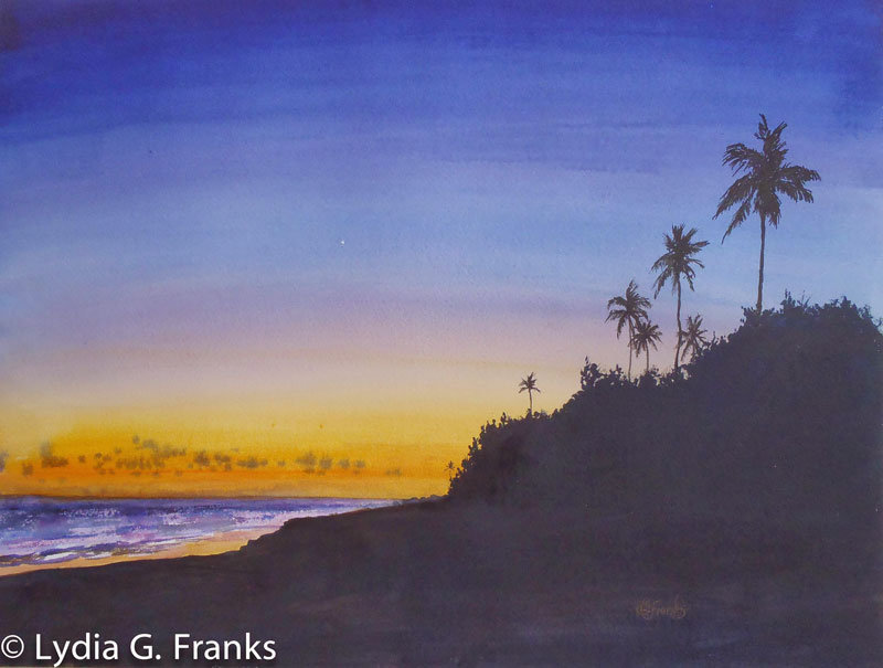Last Light-Lydia Franks-Watercolour