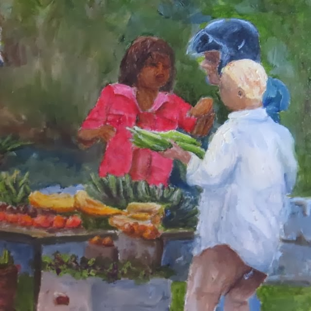Scratcher's Vegetable Stand #2-Heidi Cowen- Oil