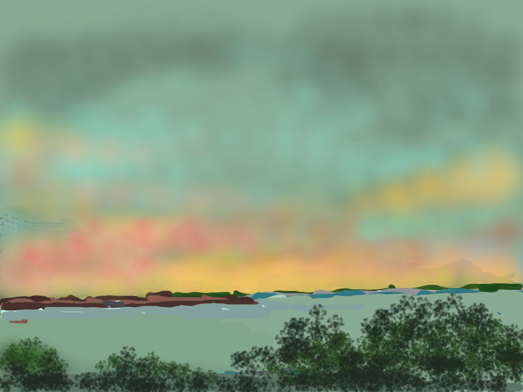Sunset at Cedarhurst-Rick Marson-iPad Art