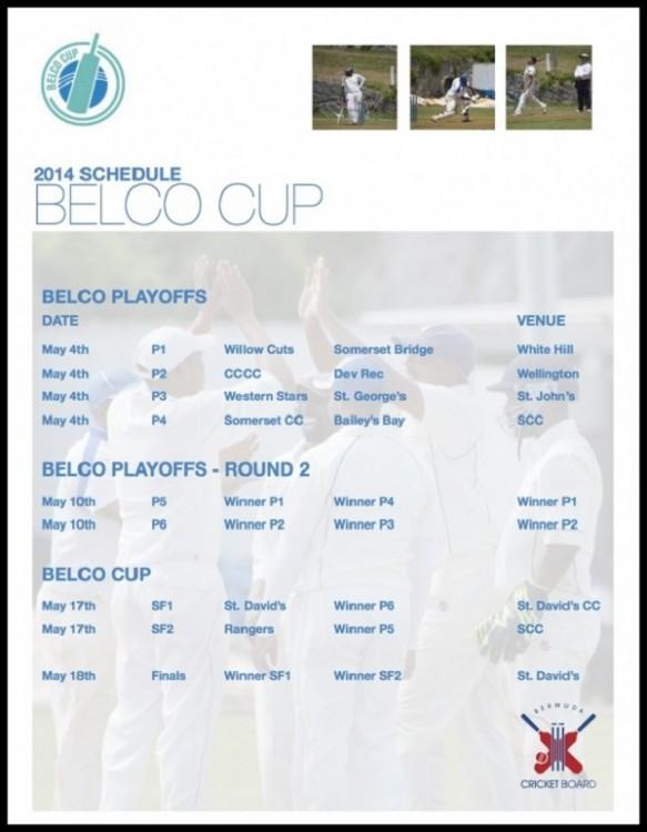 BELCO cup 2-14 schedule