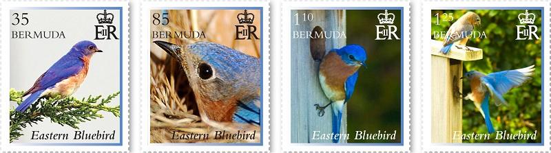 Bermuda Eastern Bluebird Stamps Released - Bernews