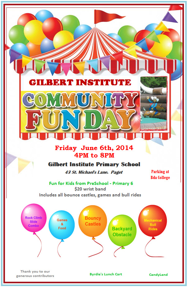 Gilbert Institute To Hold Fundraising Fun Day Bernews