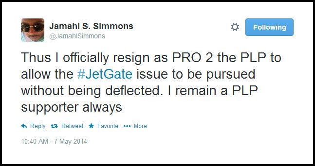 J resign tweet