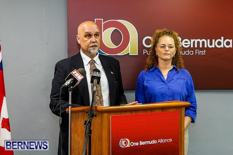 One Bermuda Alliance OBA Thad Hollis Karen Magnum, May 14 2014