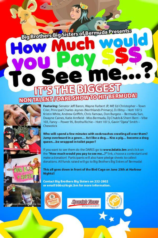 BBBS Dare fundraiser poster