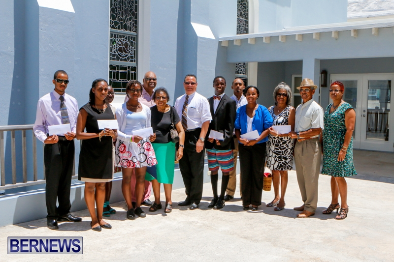 Richard Eve Scholarship Award AME Bermuda, July 10 2014-1