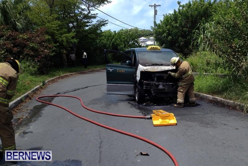 Taxi Car Van Fire, Bermuda July 17 2014 (2)