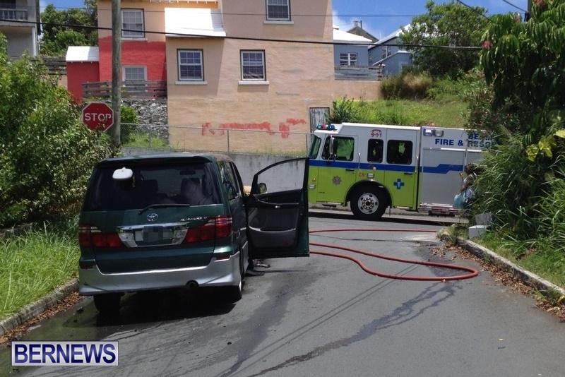Taxi Car Van Fire, Bermuda July 17 2014 (3)