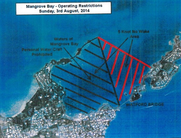2014 Mangrove Bay Watercraft Restriction Zone Map (Non-Mariners)