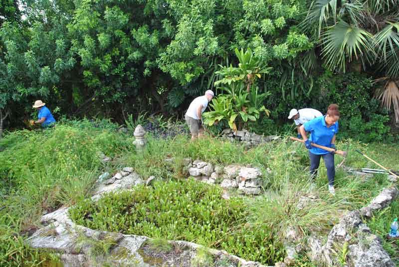 Before-shot---Pond-&-Stone-garden