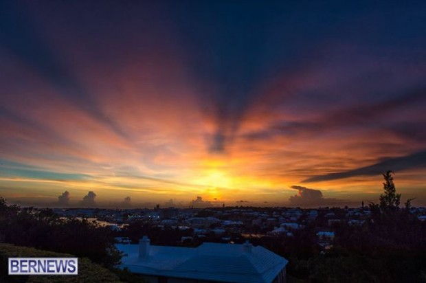 Bermuda sunset houses generic