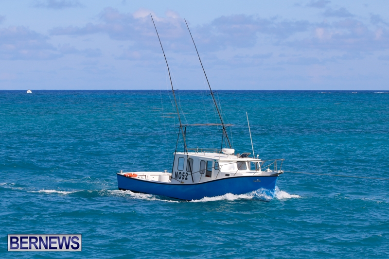 Photos boat towed after taking on water bernews for Fishing in bermuda