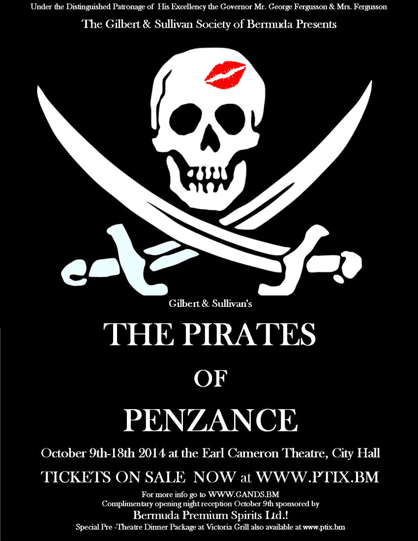 G&S Pirates 2014 lipstick skull poster 09