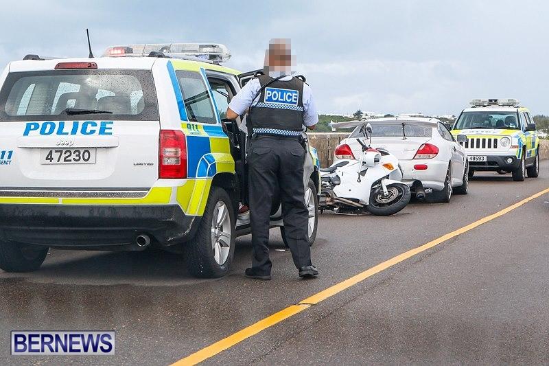 Police Bike Accident Bermuda, September 29 2014-1