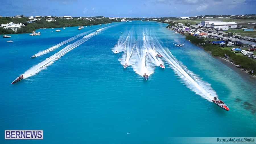 aerial-photo-round-the-island-race-bermuda-2014