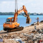 Excavator Removed From Airport Dump Waters Bermuda, October 7 2014-11