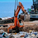 Excavator Removed From Airport Dump Waters Bermuda, October 7 2014-6
