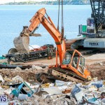 Excavator Removed From Airport Dump Waters Bermuda, October 7 2014-8
