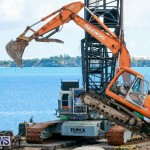 Excavator Removed From Airport Dump Waters Bermuda, October 7 2014-9