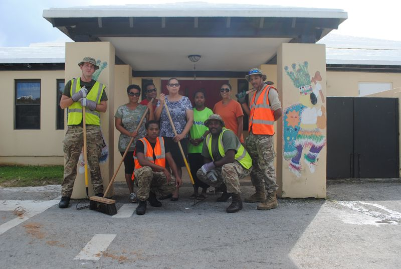 Regiment soldiers from a clean-up team
