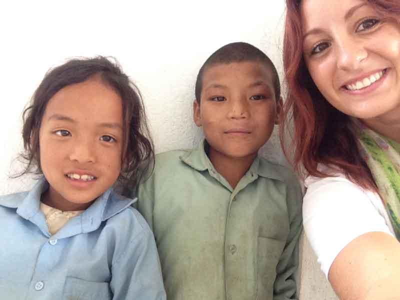 Fran-with-nepali-kids