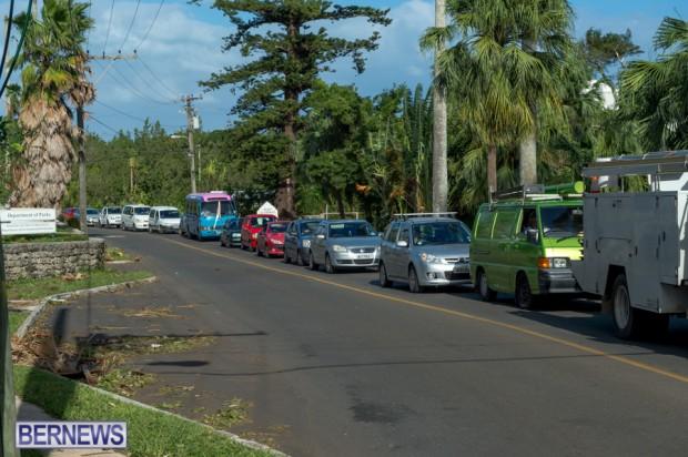 Traffic backed up Bermuda Oct 13 (1)