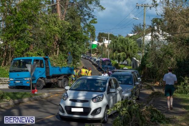 Traffic backed up Bermuda Oct 13 666