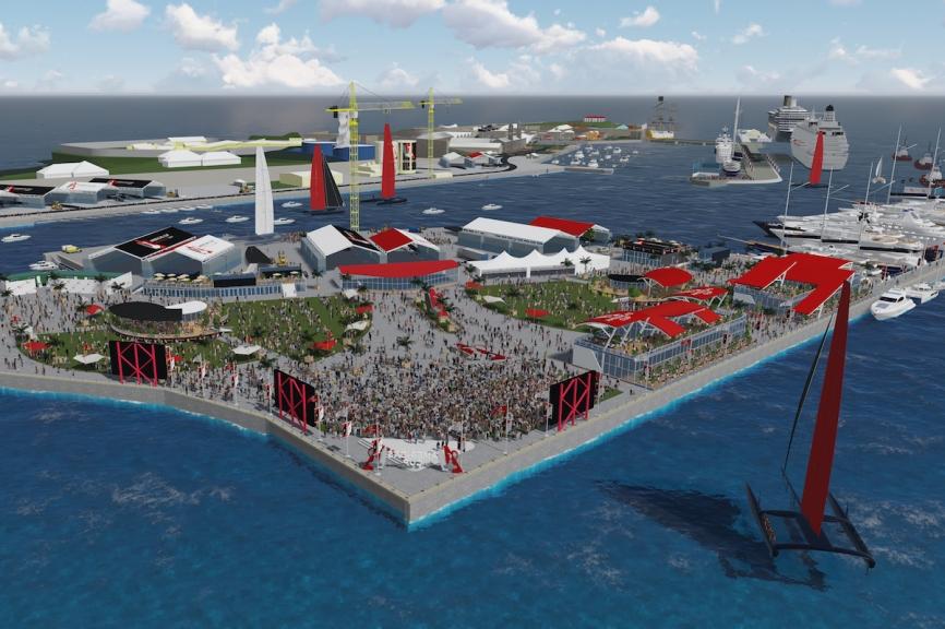 Dockyard Americas Cup render