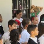 Mount St Agnes Junior Choir preparing to sing
