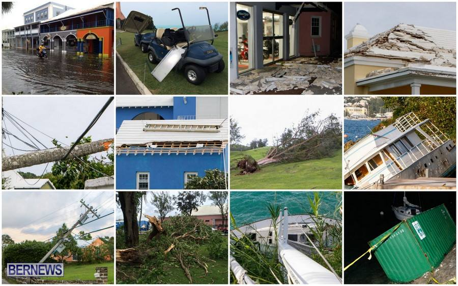 Tropical Storm Fay collage bermuda 2014