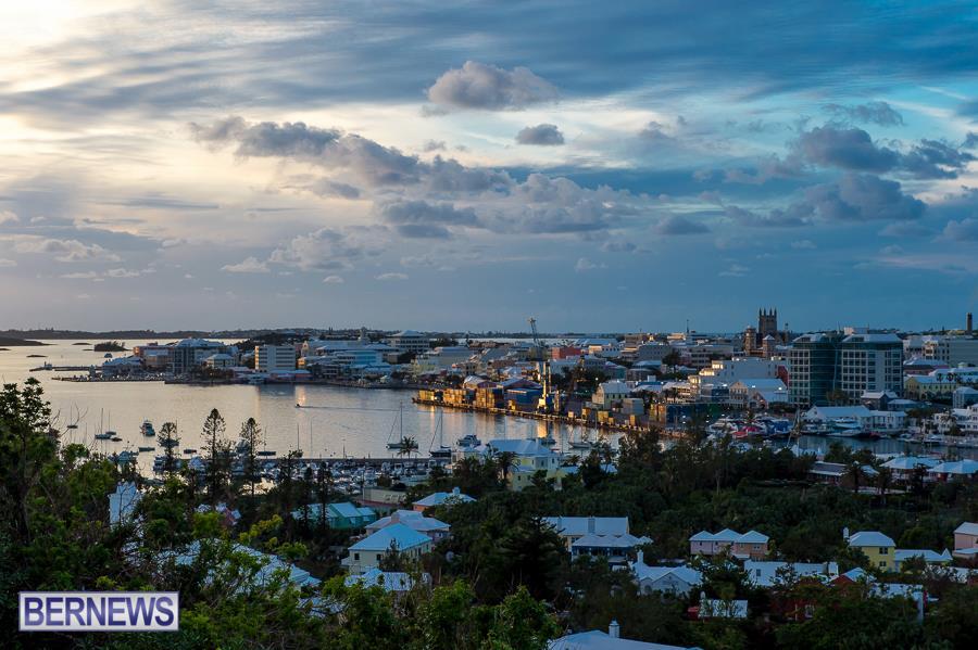 5evening over Hamilton Bermuda Generic