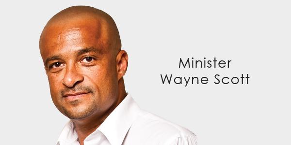 Minister Wayne Scott banner