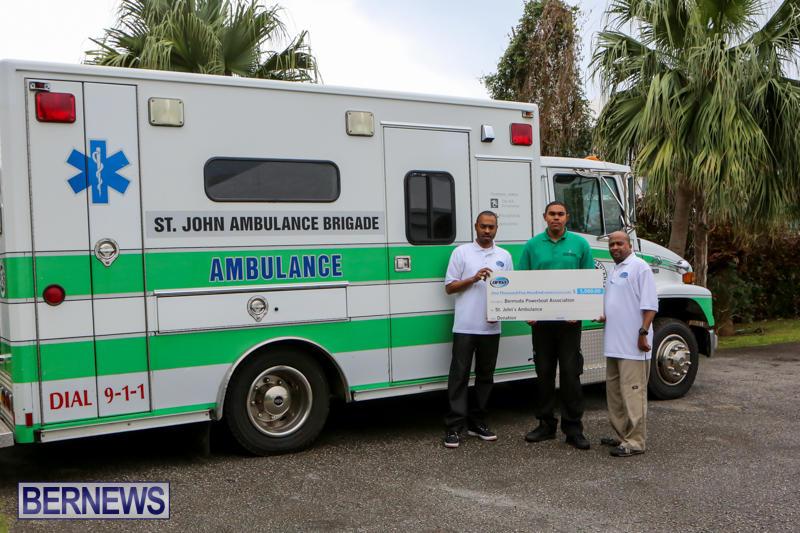 Powerboat Association Donation St John Ambulance Bermuda, February 18 2015-2