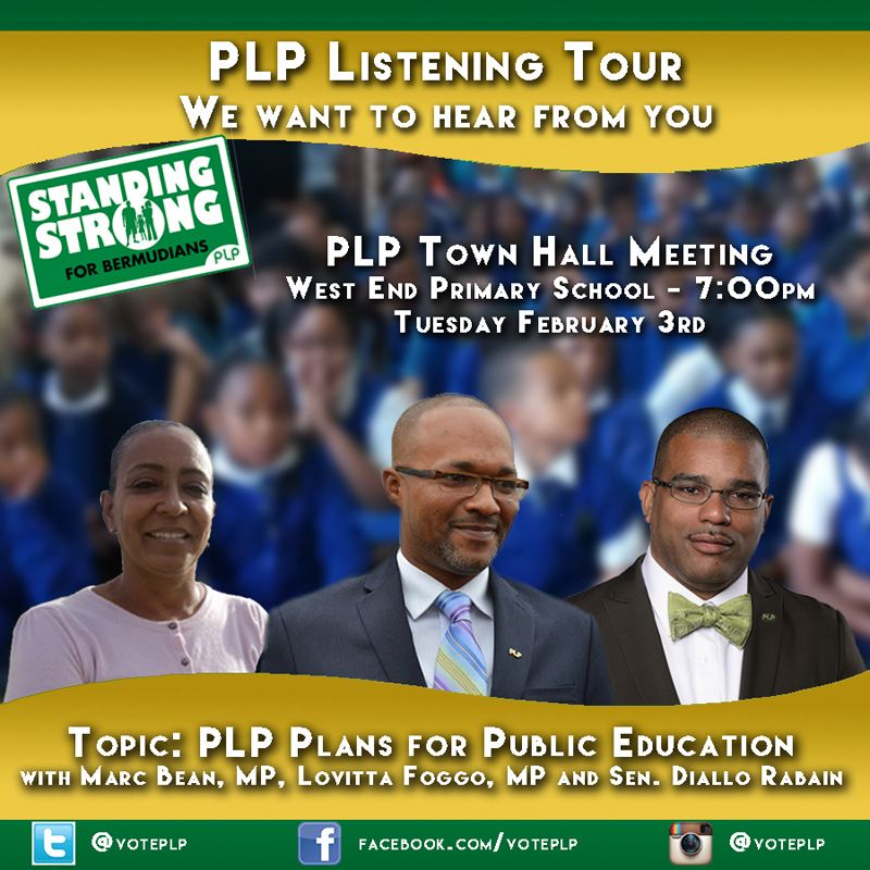 Tuesday PLP Plans for Public Education - West End Tuesday