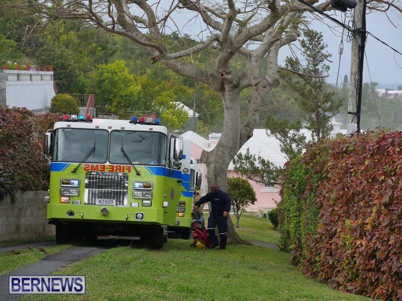 Woodlawn Road Fire Bermuda, February 12 2015
