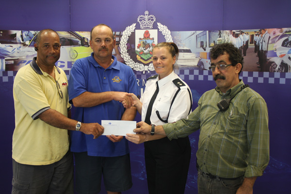 2015 Inter-Service Charity Golf Tournament Island Construction Cheque Presentation