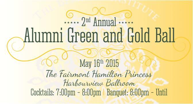 Green & Gold Ball 2015