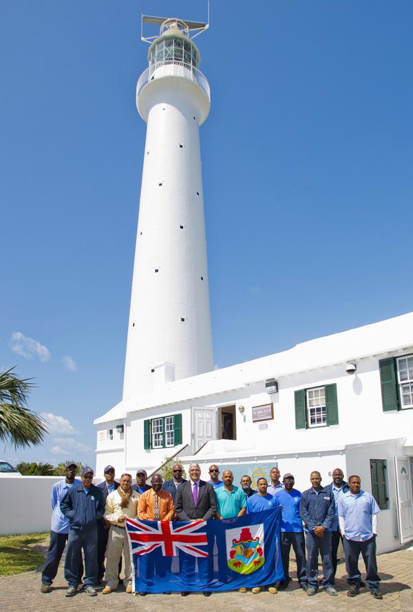 Photos Gibbs Hill Lighthouse Repair Work Bernews