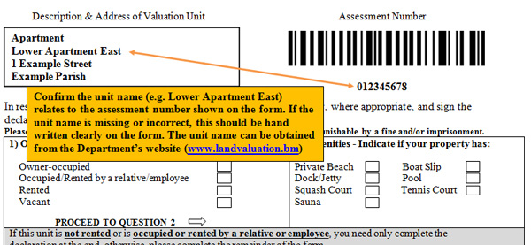 sample valuation form s12asd