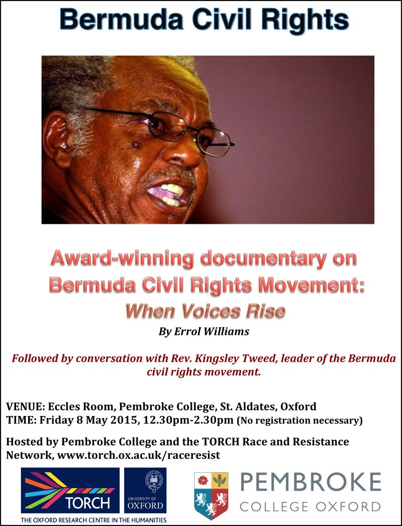 Oxford University Bermuda Civil Rights Event 8 May 2015