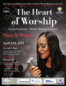 Shayla's Flyer The Heart Of Worship Flyer
