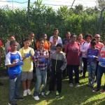 11 Dellwood Middle students near Stadium