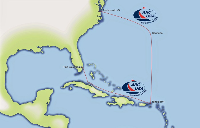 ARC USA map both routes
