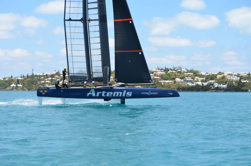 Artemis Racing Touch Down In Bermuda 2