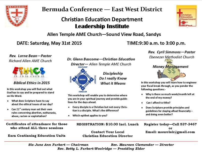 Leadership Institute 2015 flyer