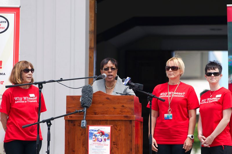 Minister Jeanne Atherden At World Asthma Day 2015 (1)