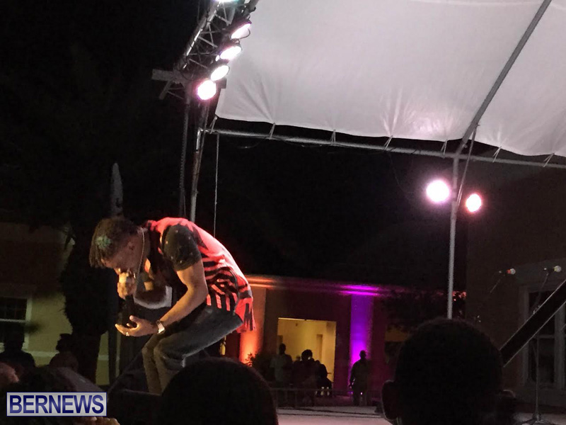 Reggae Chris Martin perform  Bermuda Caribbean Music Festival 2015 May (2)